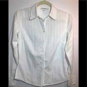Xs White long sleeve Calvin Klein shirt